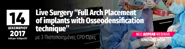 Live Surgery Webinar Full mouth implants - Placement of implants with osseiodensification technique